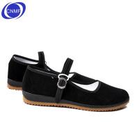 谋福 老北京布鞋 女士双色牛筋底舞蹈鞋 酒店员工鞋 工作鞋 黑色