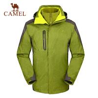 camel骆驼户外三合一男款冲锋衣 秋冬保暖防水防风新款冲锋衣