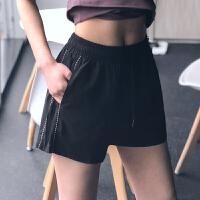 运动短裤女防走光宽松速干显瘦高腰健身裤休闲外穿跑步瑜伽热裤新