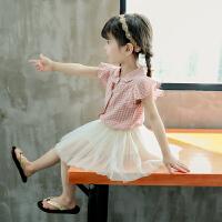 女宝宝夏装女孩儿童套装洋气女童裙子两件套