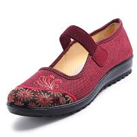 老北京布鞋女中老年人妈妈鞋子 大码女鞋-特大号女士老人单