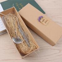 精致镂空创意黄铜金属叶脉书签文创小礼品纪念品复古典中国风古风文艺便签