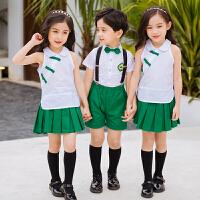 儿童演出服短装男女童六一幼儿园夏季表演服小学生班服合唱服夏天