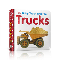 英文原版 Trucks (Baby Touch and Feel) DK触摸书:卡车(卡板书)