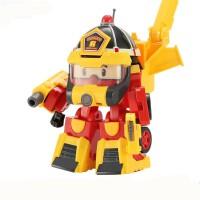 波利警长变形警车机器人救援队套装波力罗伊消防车珀利儿童玩具车
