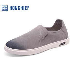 红蜻蜓旗下品牌  HONCHIEF男鞋休闲鞋秋冬鞋子男板鞋KTA7202