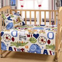 全棉老粗布婴儿床单单件纯棉宝宝凉席夏季幼儿园床单卡通儿童凉席定制