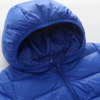 儿童轻薄羽绒服 纯色冬季款 宝宝连帽外套 男女童保暖上衣