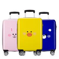 【每满100减50】卡拉羊飞机轮拉杆箱子旅行箱PC韩版登机行李箱8寸小童学生拉杆箱CX8633 柠檬黄