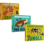 英文原版 Touch and Explore 系列4册 Dinosaurs/Jungle/Safari/The Oce