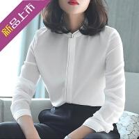 白色衬衫女长袖宽松设计感小众雪纺衬衣仙女范春装2019款韩版上衣