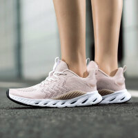 【1件6折 2件5折】【氢风科技】特步女鞋运动鞋2019春季新品跑步鞋透气正品ins跑鞋881218119066