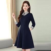 娃娃领的连衣裙女装2020春季修身冬裙新款打底衬衫裙子