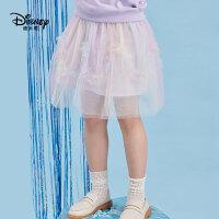迪士尼公主春装新款女童半身裙蓬蓬裙女宝宝网纱裙子洋气淑女