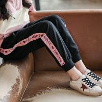 女童运动裤春装儿童休闲裤子外穿春秋大童女孩