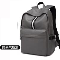 男包双肩包皮书包学生潮背包pu时尚休闲旅行包电脑包
