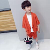 男童夏装西装中袖短裤套装儿童装时尚两件套