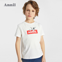 【2件4折价:39.6】安奈儿童装男童T恤短袖2021新款中大童夏季上衣韩版潮薄透气体恤