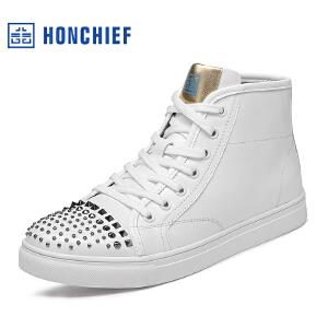 红蜻蜓旗下品牌HONCHIEF男鞋秋冬休闲鞋鞋子男高帮鞋KTA1223