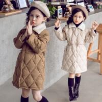 小女孩衣服儿童羽绒女童中长款棉袄冬装外套轻薄冬