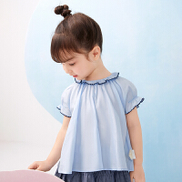 【秒杀价:135元】马拉丁童装女小童衬衫2020夏装新款洋气宽松娃娃衫儿童上衣