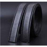 自动扣黑色3.0cm宽 皮带条 带身不含扣头 头层牛皮真皮男士腰带