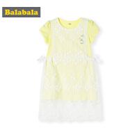 巴拉巴拉童装宝宝洋气套装女童小童纱裙夏装新款儿童长款T恤