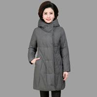中老年女装棉衣妈妈冬装加肥加厚中长款保暖棉袄中年大码羽绒