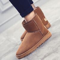 男靴冬季新品保暖雪地靴男加绒加棉中帮复古男士新款棉鞋男鞋休闲鞋男