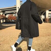 港风冬季复古韩版男大衣男士情侣棉袄学生加厚保暖中长款棉衣