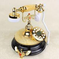 欧式仿古电话 美式黄玉黑底来电显示电话机时尚复古电话机电话机复古时尚创意美式家用电话时尚