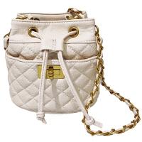 菱格链条包包女包斜跨小包单肩简约时尚迷你水桶包