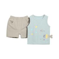 宝宝夏天套装男童夏季儿童背心男宝两件套