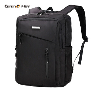 卡拉羊简约多功能休闲大容量男女数码电脑背包双肩包CS5717