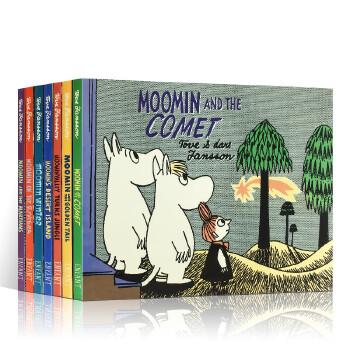 英文原版 小肥肥姆明一族7册合售 Moomin and the Martians 穆明和火星人/on the Riviera/and the Comet儿童英语读物故事漫画书