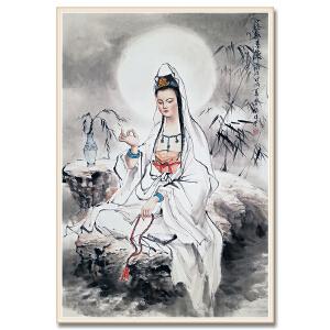 中国人物画协会会员、中国人物画研究院理事 李殷《慈航普渡》