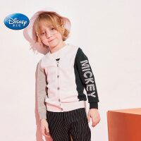 迪士尼Disney童装2020春秋款纯棉男童卡通针织开衫毛衣儿童毛线衣