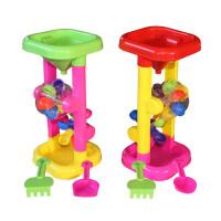 儿童沙滩玩具套装 宝宝决明子玩具沙漏沙滩桶 挖沙铲子风车