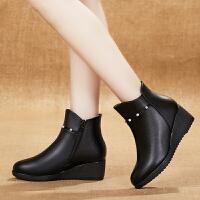 ����鞋女冬季加�q女鞋平跟女士棉鞋中年棉靴坡跟