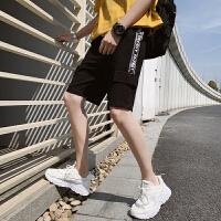 短裤男ins工装5分裤夏季潮流个性口袋中裤韩版休闲百搭五分裤