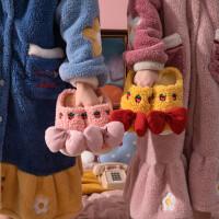 泰蜜熊冬季月子棉拖鞋包跟家居家皮防水防滑保暖厚底毛拖棉拖鞋