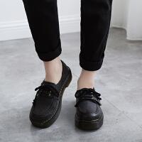 单鞋女2018秋新款复古小皮鞋女鞋英伦学院风圆头厚底松糕学生鞋潮