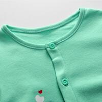 婴儿连体衣长袖 秋装 宝宝开档哈衣 新生儿衣服