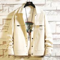 )工装夹克衬衫男士新款韩版潮流潮牌薄款防晒服外套男装上衣
