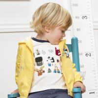 davebella戴维贝拉男童外套春装新款宝宝洋气连帽上衣DBJ12902-1