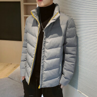棉衣男士冬装2019年新款加肥加大胖子外套初中高中大学生