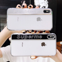 586�O果x手�C��iPhone xs max潮牌金��xs超薄xr透明�硅�z8plus女款�W�t同款iPhone x硬��6s